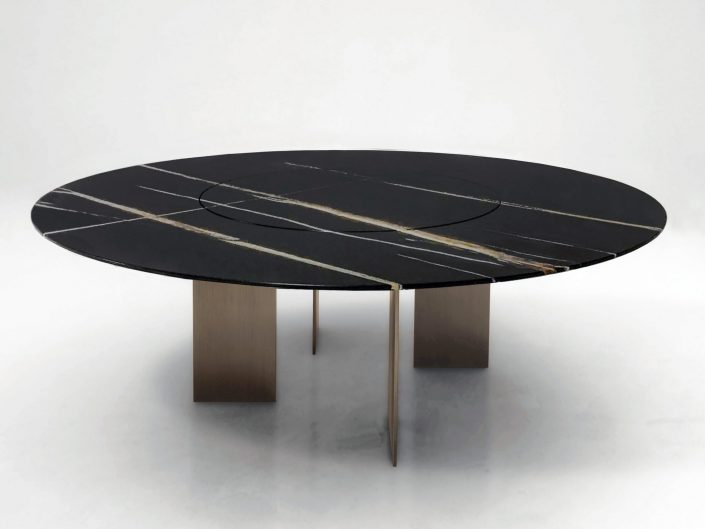 NEW EDIZIONI DINING TABLE WITH LAZY SUSAN
